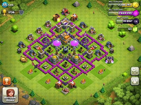 game mod coc terbaik clash of clans base pertahanan terbaik town hall level 7