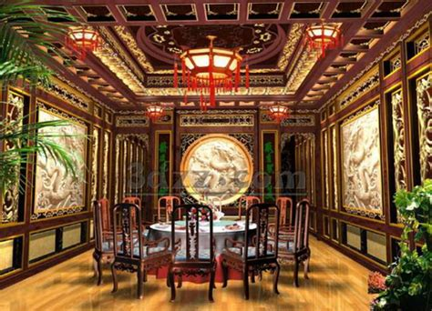 chinese style home decor chinese traditional style restaurant separate room 3d