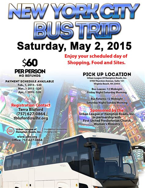 day bus trips to new york city buca di beppo coupon