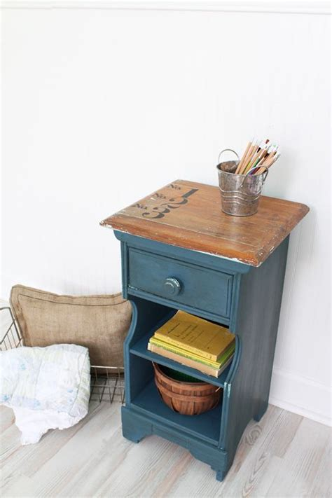 chalk paint ideas for end tables school inspired side table tops stands and
