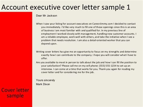 cover letter account executive account executive cover letter