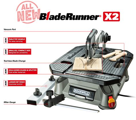 bladerunner x2 portable table saw rockwell bladerunner x2 portable table saw