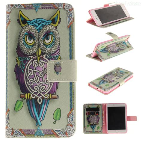 Iphone 7 7s Plus Flip Wallet Leather Casing Cover Book Dompet owl tiger dandelion flower leather flip wallet holster cover for iphone 4 4s se 5 5s