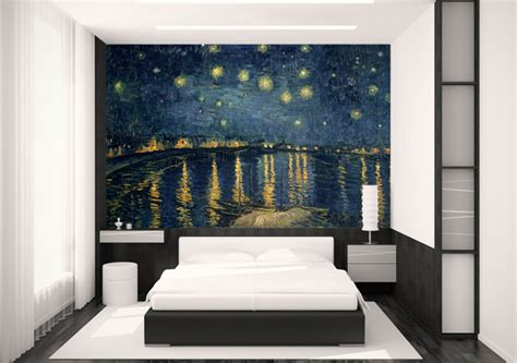 starry night bedroom starry night wall mural peenmedia com