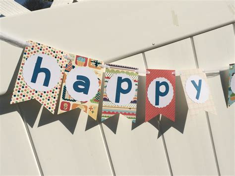 Handmade Happy Birthday Banner - happy birthday banner birthday banner handmade banner