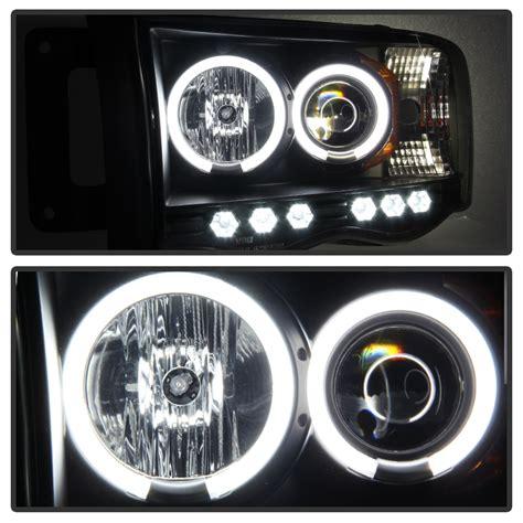 2002 dodge ram led headlights 2002 2005 dodge ram 1500 2500 dual halo led projector