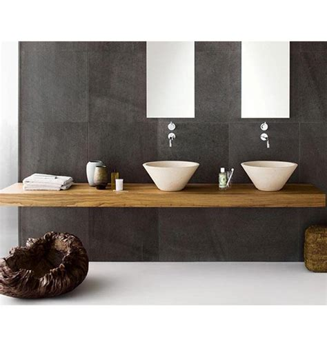 mensola lavabo bagno top in legno da bagno per lavabo sospeso 160x40x8 resina