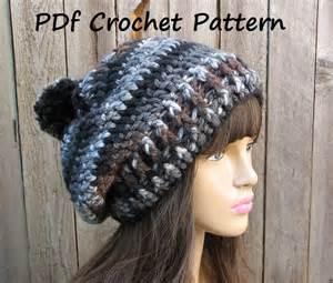 Crochet pattern crochet hat slouchy hat crochet pattern pdf easy