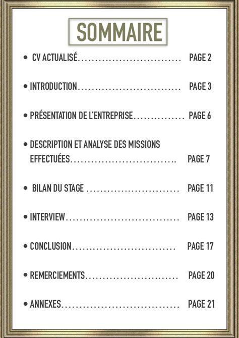 Modele De Sommaire Pour Dossier