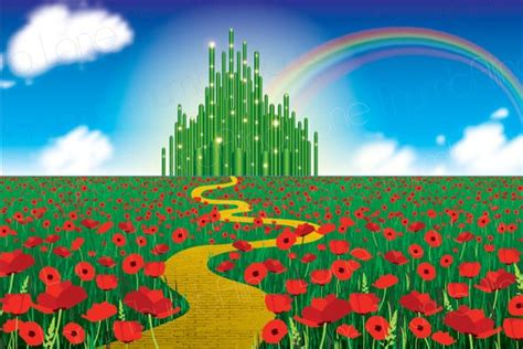 Printable Wizard Of Oz Backdrop Instant Download 6ft X 4ft Wizard Of Oz Powerpoint Template