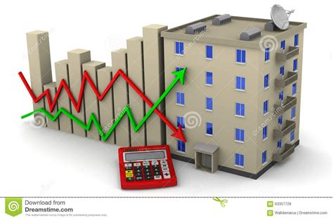 changes in real estate prices concept stock illustration