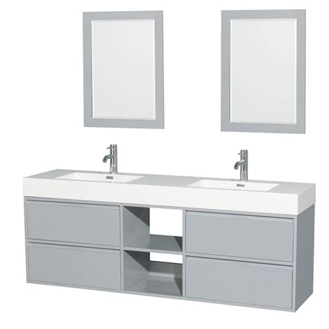 double sink wall mounted vanity daniella 72 quot wall mounted double bathroom vanity set with