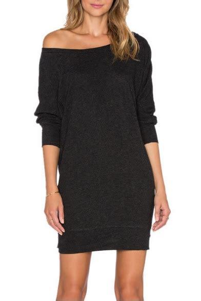 Sleeve Plain T Shirt Dress one shoulder sleeve mini plain t shirt dress