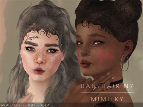sims 4 baby hair edges daerilia s mimilky babyhair n7 set