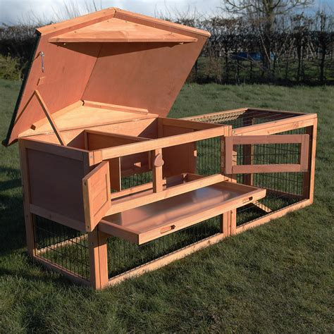 Hutch For Two Rabbits two tier verona rabbit hutch with run house for pet bunny ferret guinea pig ebay