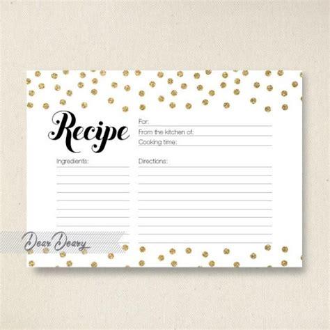 printable martini recipe cards gold glitter confetti recipe card bridal shower recipe