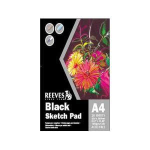 a4 sketchbook reeves reeves black sketch pad a4 140gsm 20 sheets staples now winc