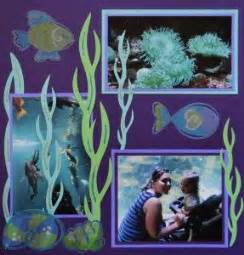 scrapbook layout aquarium aquarium scrapbook page with seaweed from cricut s life s
