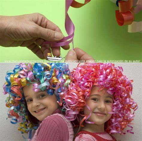 como hacer pelucas de papel c 243 mo hacer una peluca de papel manualidades infantiles