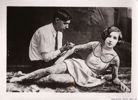 female tattoo history the prickly history of tattooing in america huffpost