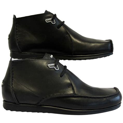 mens designer black boots mens black deakins reef 19 designer leather boots shoes