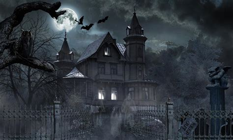 set the scene for a haunted mansion halloween party horror house live wallpaper 1mobile com