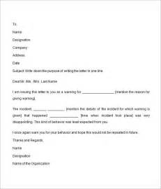 warning templates sle warning letter 15 free documents in pdf word