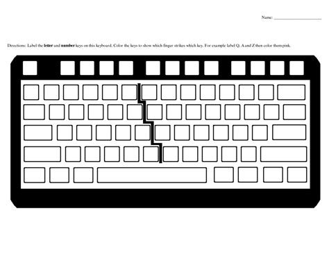 keyboard template blank keyboard template printable worksheets