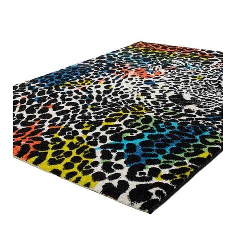 tappeto leopardato tappeto moderno aztec 496 leopardato stile fantasia a