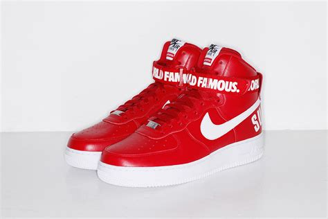 Nike X Supreme supreme x nike 2014 fall winter air 1 high collection sneakers addict