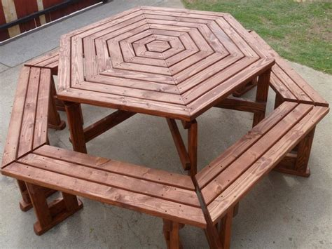 great hexagon picnic table plans stroovi