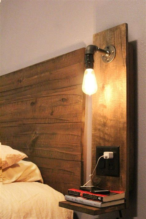 rustic floating night stand  light rustic bedroom