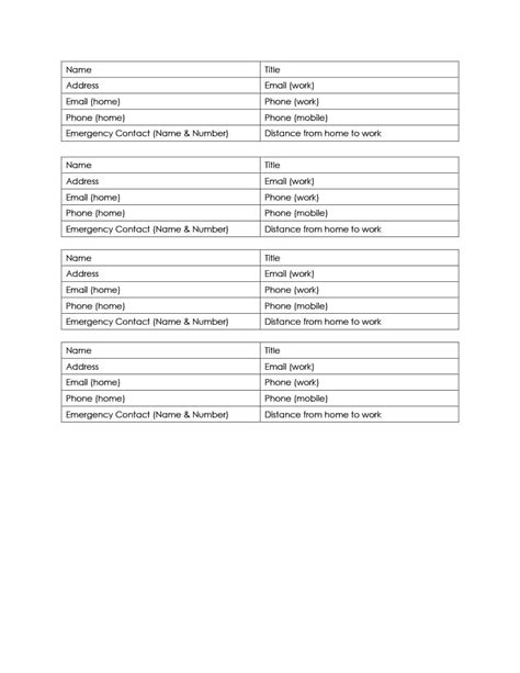 40 Phone Email Contact List Templates Word Excel Template Lab Phone Email Template