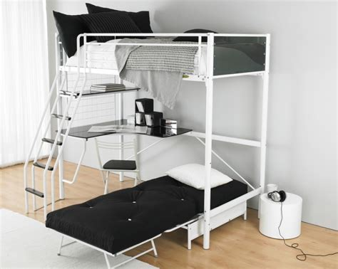 Bunk Bed With Space Underneath Awesome Loft Beds Design For Space Saving Room With Brown Color Detail Feat Scatter