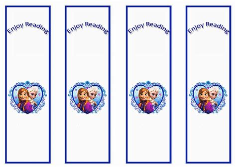 printable frozen bookmarks 8 best images of frozen bookmarks printable disney