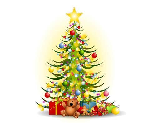 weihnachtsbaum geschenk klipp kunst stock abbildung