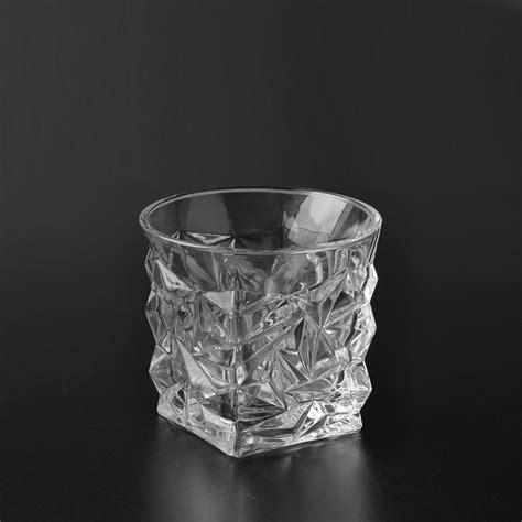 wholesale glass cut embossed clear glass candle holder wholesale