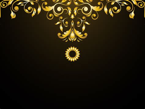 Luxury Ornaments Backgrounds Black Border Frames Yellow Templates Free Ppt Grounds And Luxury Powerpoint Template