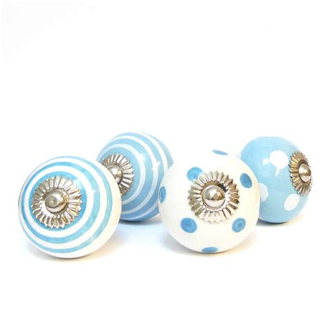 Blue Ceramic Knobs by Blue Decorative Ceramic Cupboard Door Knobs By Pushka Home