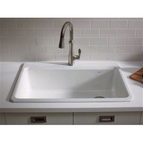 kitchen single sink kohler 33 quot x 22 quot x 9 5 8 quot top mount single bowl kitchen