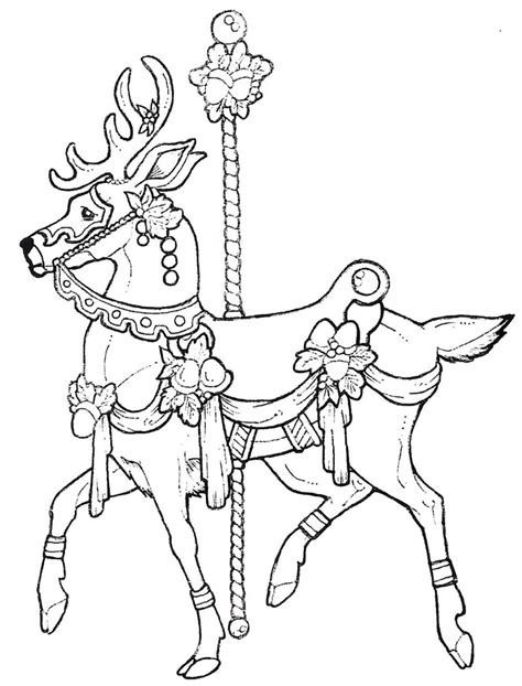 free coloring pages of horse carousel