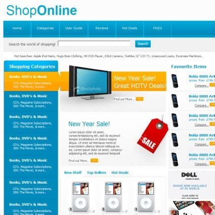 shop online template free website templates in css html
