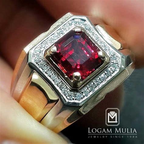 Cincin Mewah Safir Cylon Bertabur Berlian jual cincin berlian pria dg ruby dvmc rms3525 edln logammuliajewelry