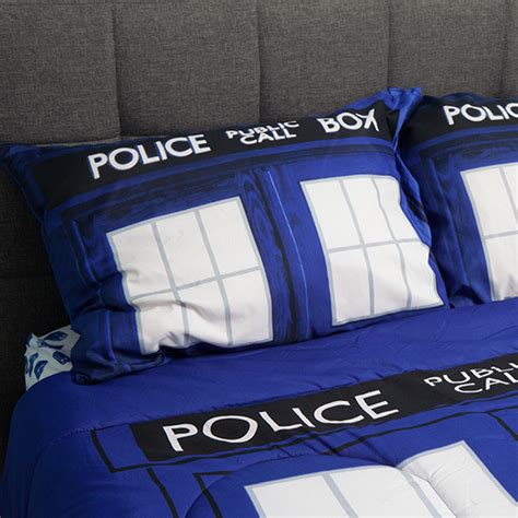 doctor who tardis bedding thinkgeek