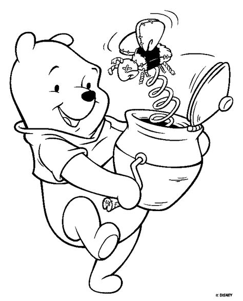 coloring pages disney winnie the pooh winnie the pooh bear disney coloring pages