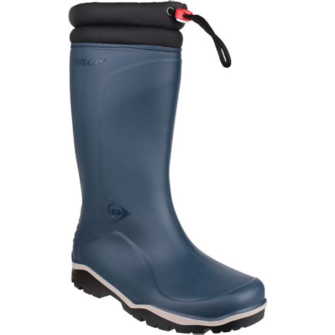 dunlop mens blizzard fur lined insulated welly wellington