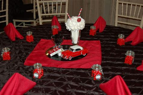 1950 s table decoration edible centerpiece diecast car 1950 s diner theme 1950 s wedding