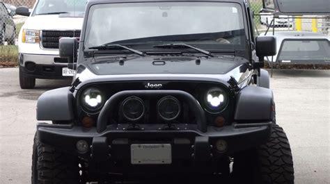 Jw Speaker Jeep Jw Speaker Led Headls On A 2011 Jeep Jk Unlimited