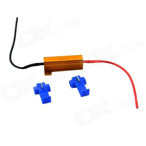 what is a hid resistor 6 ohm 50w hid led warning canceller decoder load resistor w wire connectors golden blue