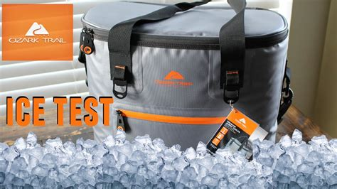 ozark trail cooler bag like yeti ozark trail jumbo soft cooler ice leak test
